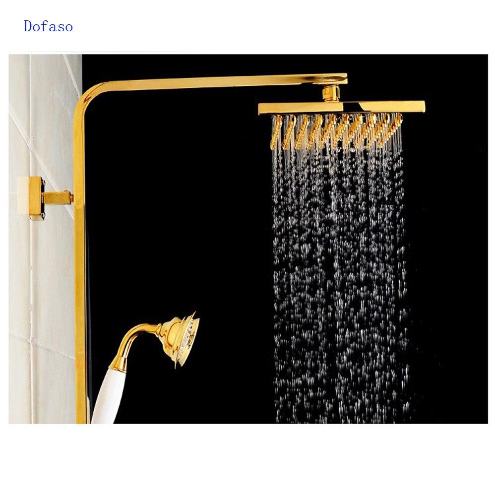 Dofaso brand bath Gold Brass shower fashion gold shower set luxury ...