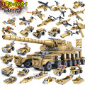 Building Blocks playmobil Toys Military Weapons  Assemblage  Super Tanks Self-Locking figureblock Bricks compatiable with brand