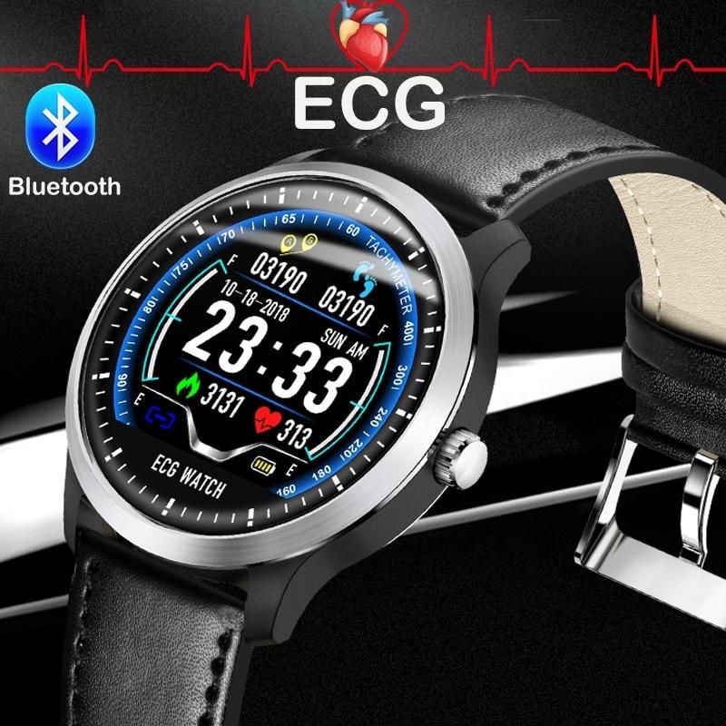 Teamyo N58 ECG PPG Bracelet intelligent montre intelligente moniteur de fréquence cardiaque pression artérielle Tracker hommes montre intelligente pour IOS Android