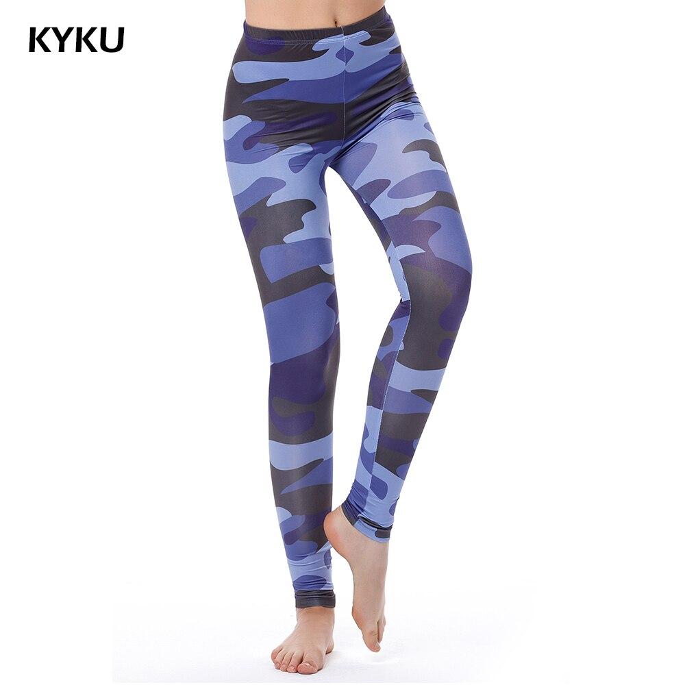 Blue Camouflage Leggings Women 3d Printed Camo Legging Army Fashion Sexy Leggings For Wonmen Fitness Leggins High Waist Leggin