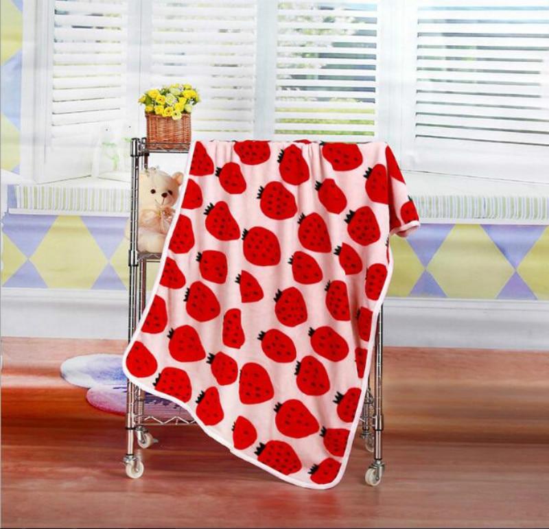 Newborn Baby blanket Strawberry Kids Cobertor Bebes Beach Bathing Towel Soft Fleece Blanket Baby Swaddle Wrap Bedding Cama Cover
