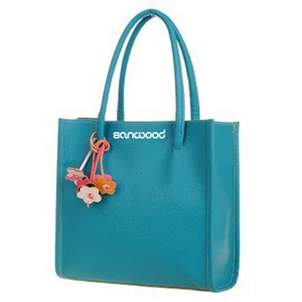 Women's Sweet Candy Colors Shoulder Bag Handbag Flowers Leather Zipper Shopping Bag Luxury Bucket Bags For Women Handbags