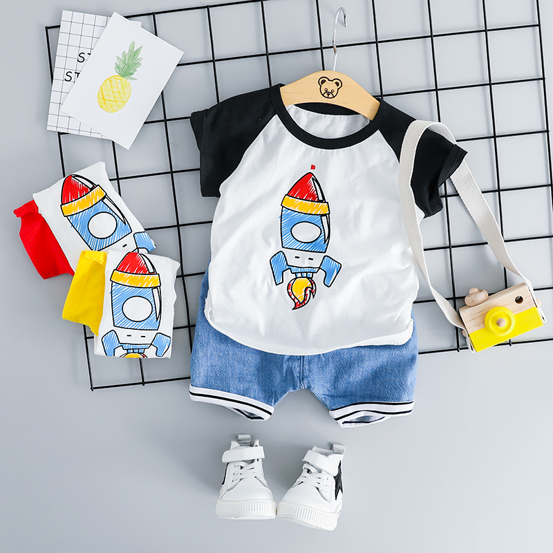 HYLKIDHUOSE 2019 Summer Baby Girls Boys Clothing Sets Infant Clothes Suits Cotton T Shirt Shorts Kids Children Casual CostumeHYLKIDHUOSE 2019 Summer Baby Girls Boys Clothing Sets Infant Clothes Suits Cotton T Shirt Shorts Kids Children Casual Costume