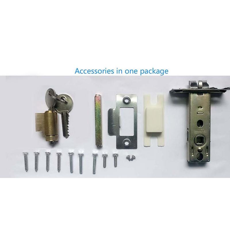 Купить с кэшбэком Bluetooth Smart Electronic Door Lock APP Control, Code, 2 Mechanical Keys Touch Screen Keypad Digital Password Lock lk818BSAP