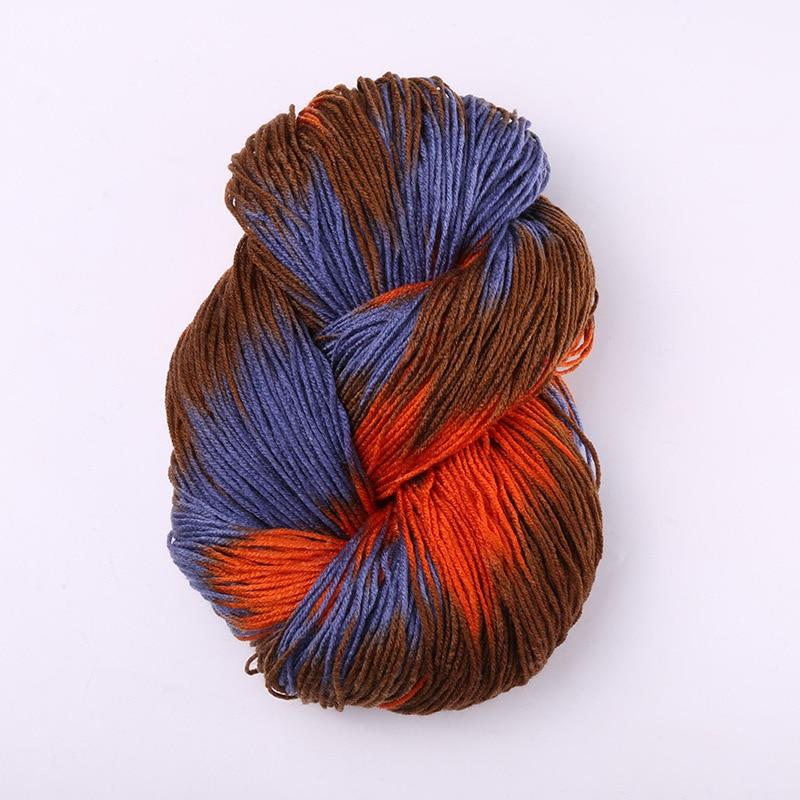 Окрашенная кричащая толстая пряжа с шерстью норки красочная акриловая пряжа с шерстью норки детские зимние свитера вязание мохер шерсть пряжа крючком иглы около 50 г - Цвет: A-5
