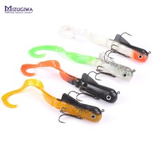 MIZUGIWA Soft Lure Fishing Soft Bait Zabder Freshwater Curly Shad  Fishing Tackle Bulldog Pike Lures Coarse Leurre Souple Shad