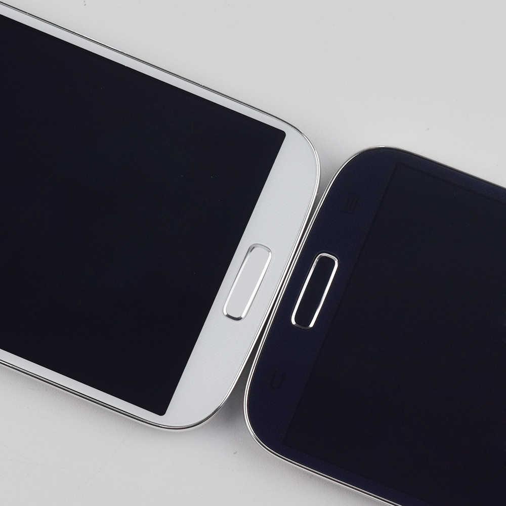 S4 شاشات lcd لسامسونج غالاكسي S4 i9500 i9505 i337 شاشة الكريستال السائل لوحة مراقبة + محول الأرقام بشاشة تعمل بلمس الاستشعار الزجاج Assemly مع الإطار