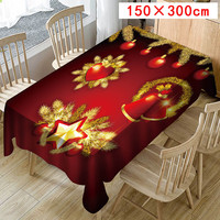 2019 Christmas tablecloth print rectangular table cover holiday party home decor 7.24