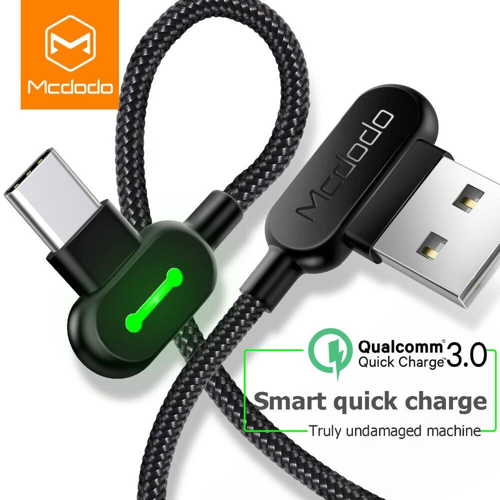 MCDODO 3m USB Tipo C cabo C-Tipo c Cabo de Dados USB De Carregamento Rápido Carregador Android USB-C Micro cabo USB Para Samsung S8 S9 Nota 8
