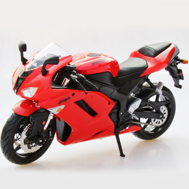 Kwsk Ninja Zx6r Red Zx 6r Motorcycle Model 1 12 Scale Metal