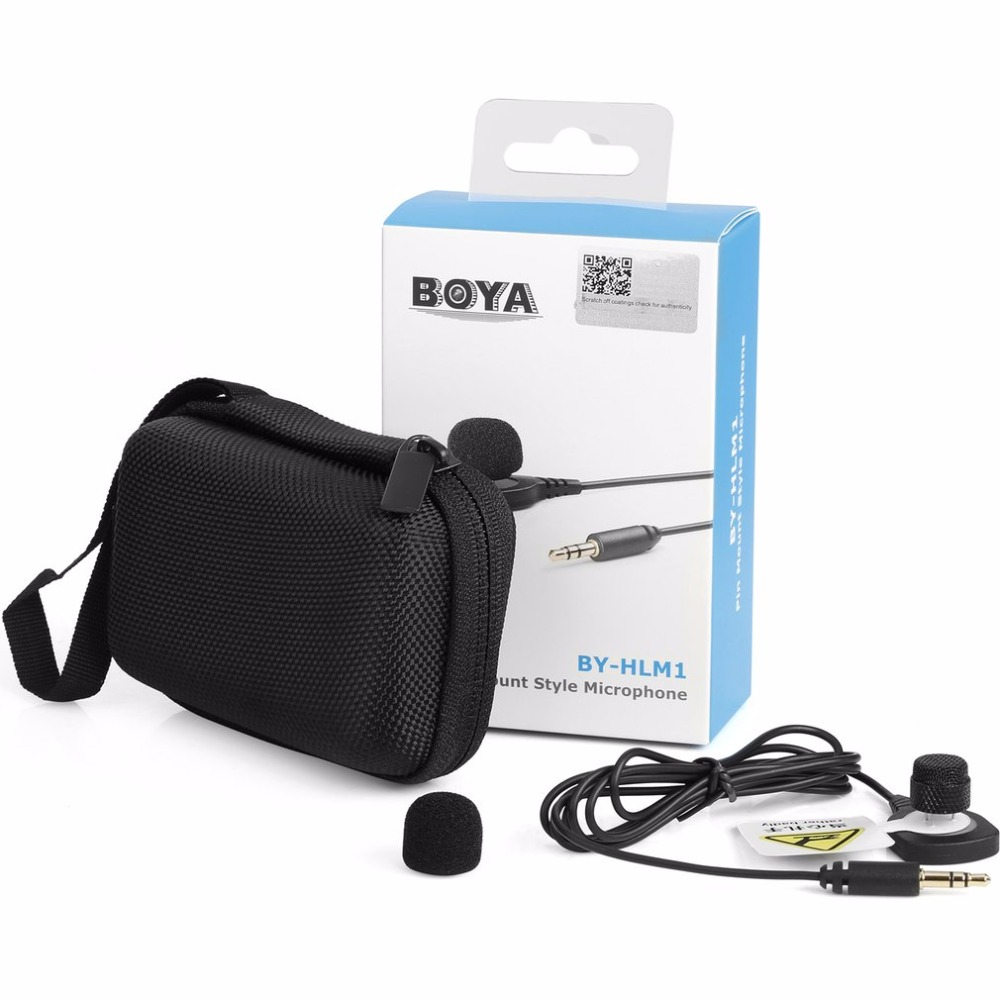 BOYA Microphone Pin Mount Style Omnidirectional Condenser Microphone with Windscreen for Canon for Nikon for Sony DSLR CameraBOYA Microphone Pin Mount Style Omnidirectional Condenser Microphone with Windscreen for Canon for Nikon for Sony DSLR Camera