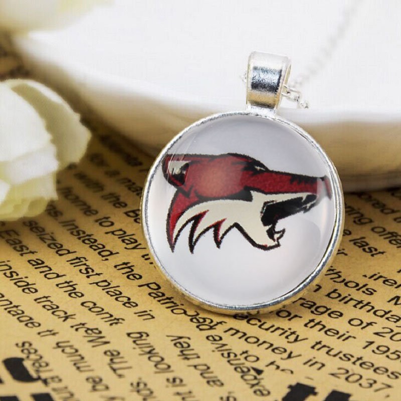 10PCS New Arrival Pendant Hockey Arizona Coyotes Time Gem Jewelry Pendant Necklace Accessories