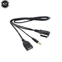 For Audi Charger AUX Audio Cable Music MDI AMI MMI Interface USB+Charger AUX Cable Car-Styling For Audi A6L A8L Q7 A3 A4L A5 A1