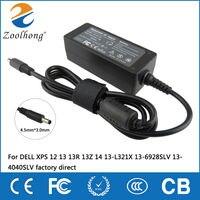 19,5 V 2.31A 45 Вт ноутбук AC адаптер питания подзарядка для Dell XPS 12 13 13R 13Z 14 13-L321X 13-6928SLV 13-4040SLV Прямая продажа с фабрики