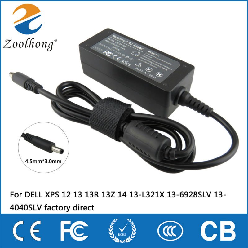 19.5V 2.31A 45W Laptop AC Power Adapter Charger For DELL XPS 12 13 13R 13Z 14 13-L321X 13-6928SLV 13-4040SLV Factory Direct