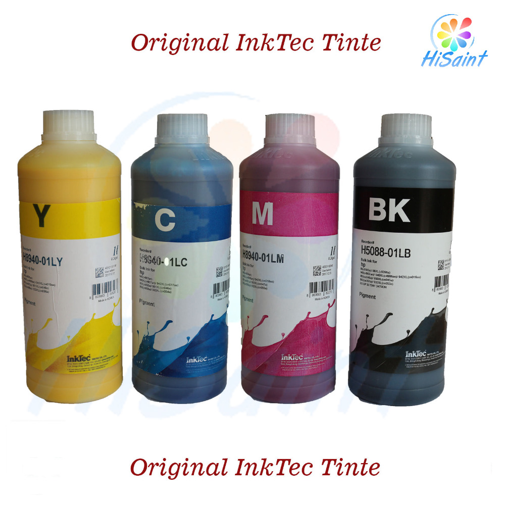 free shipping 20116 New [Simon Hisaint INK] (4,94/100ml) 4x100ml 400ml Original InkTec Tinte Pigmentiert for HP 932 for HP 933