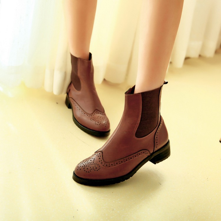 ФОТО 2014 Spring And Autumn Shoes Pointed Toe Flat Women Ankle Boots Cool Cut-outs Motorcycle Boots