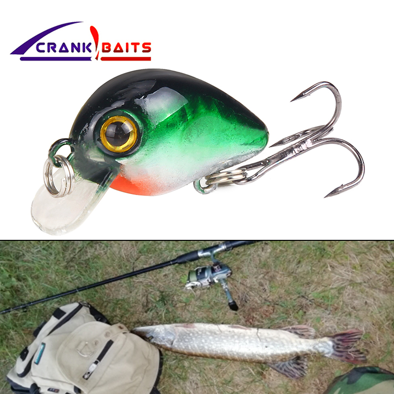 CRANK BAITS Mini Crankbait Fishing Lure Topwater Artificial Japan Hard Bait 30mm 1.7g Minnow Swimbait Trout Bass Carp Fishing
