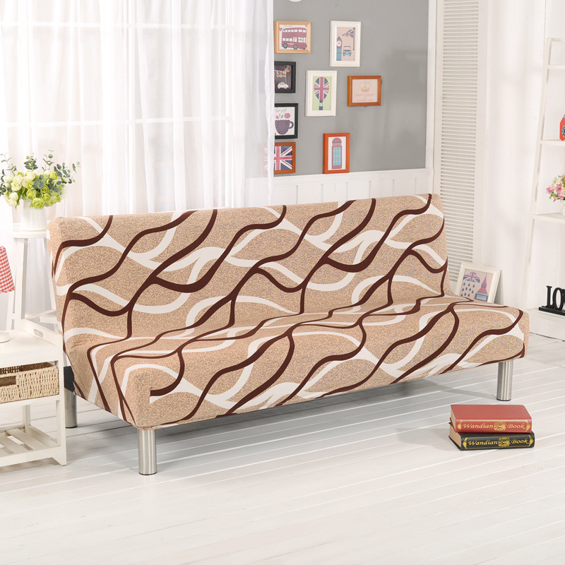 New Sofa Bed Couch Cover 160 195cm Without Armrest Printed Covers Sofa  Spandex Polyester Elastic.
