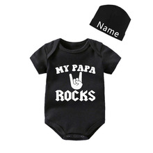Culbutomind 2019 Customized 100% Cotton Short Sleeve My PAPA Rock with Hat Baby Bodysuit More Design Outfit Summer