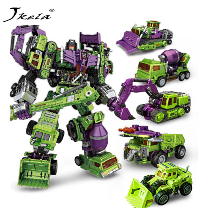 [Jkela] 6 in 1 IN-STOCK NBK 01-06 Hook Transformation Robot Ko Version Gt Scraper Of Devastator Action Figure ToysOutdoor Beach