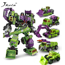 Hot IN-STOCK  Transformation Robot Ko Version Gt Scraper Of Devastator Right Thigh Action Figure Toys Outdoor Beach Toys [hot] action figure ko version kids classic robot cars devastator right thigh action figure toys for children model toy