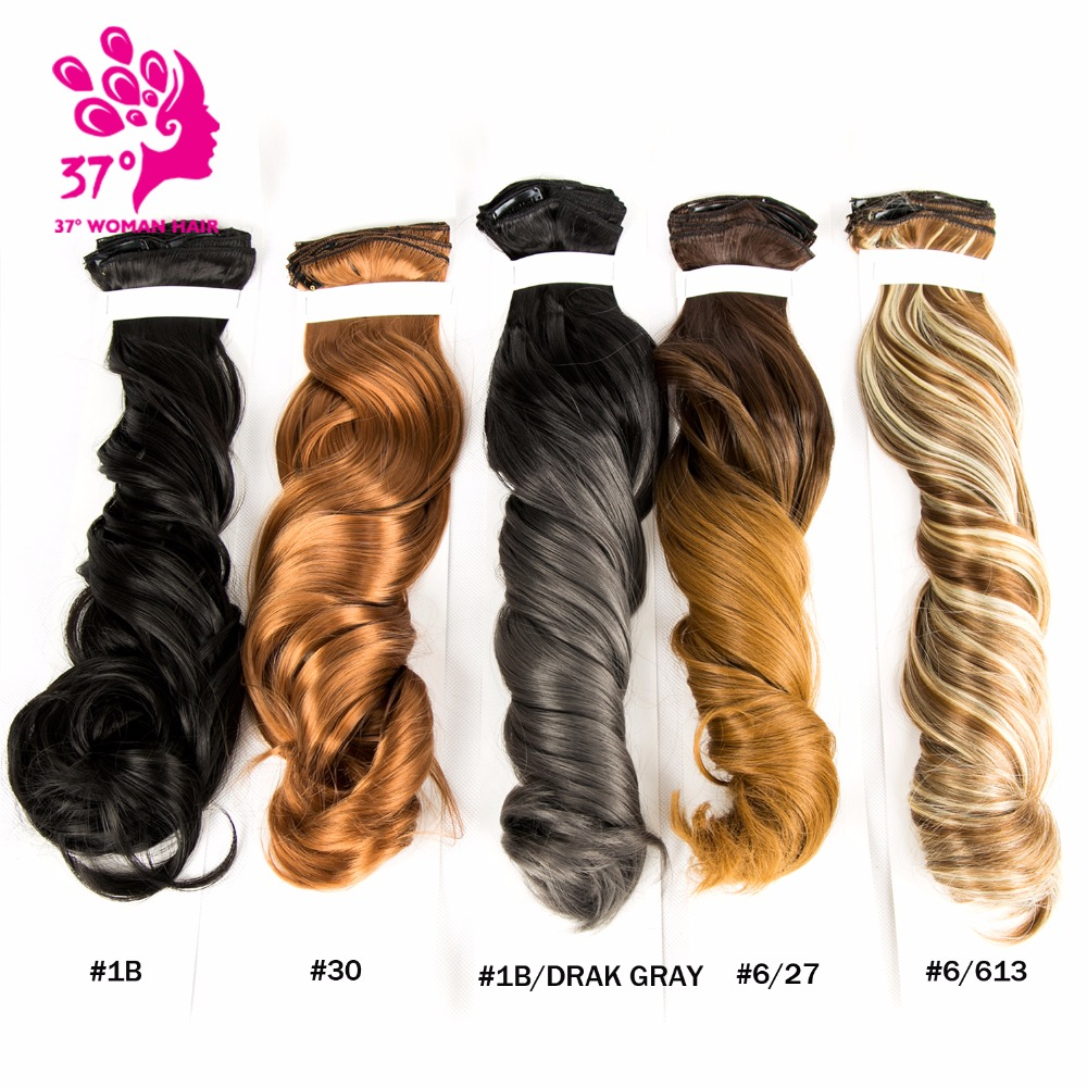 20 7pcsset Synthetic Hair For Extensions Hair On Clips Overhead