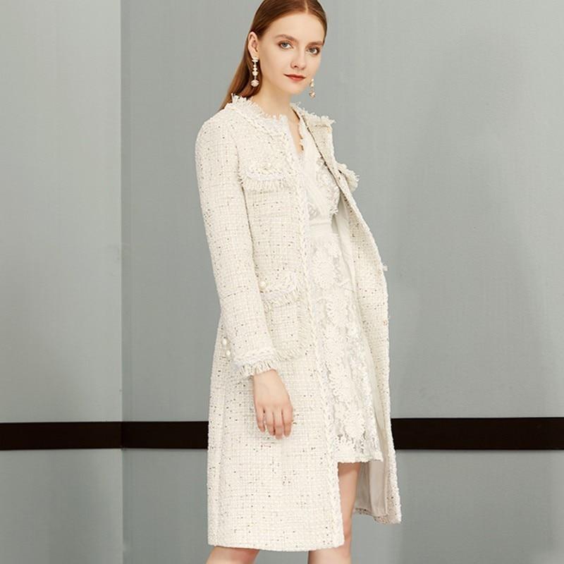 Abricot Same De D'affaires Travail Tweed Picture Plus Femmes Élégant Automne Femelle 2019 Dames Manteau As Gland Laine Pardessus Genou Mince Mode rnU6wxr