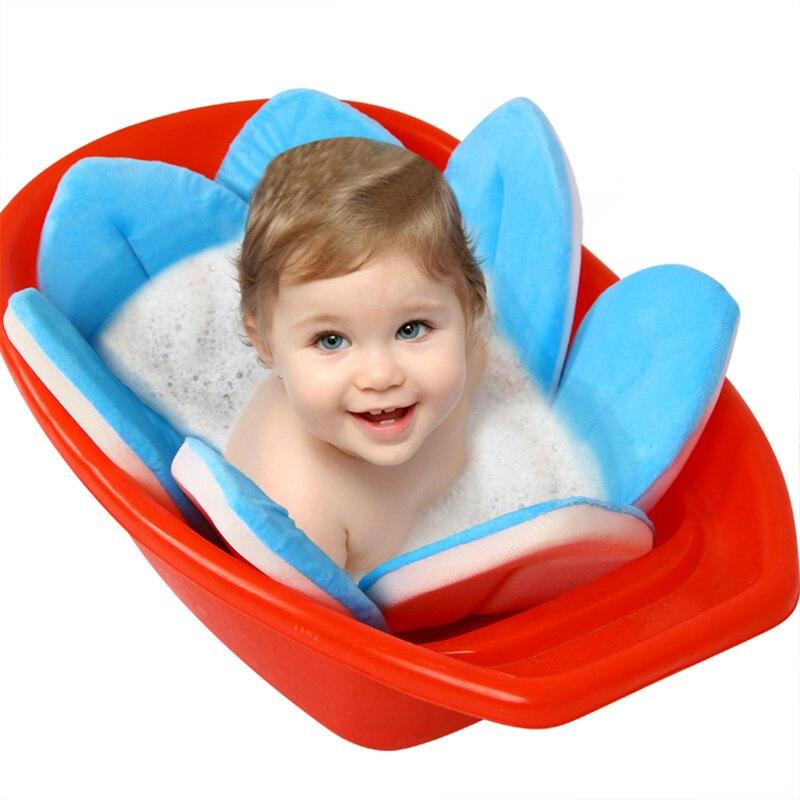Blooming Bath Baby Bathing Aid Yellow,Pink & Blue | Baby Bath Tub ...