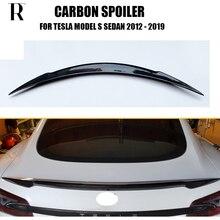 p90D P85D 炭素繊維スタイルリアトランクスポイラーウイングためテスラモデル D