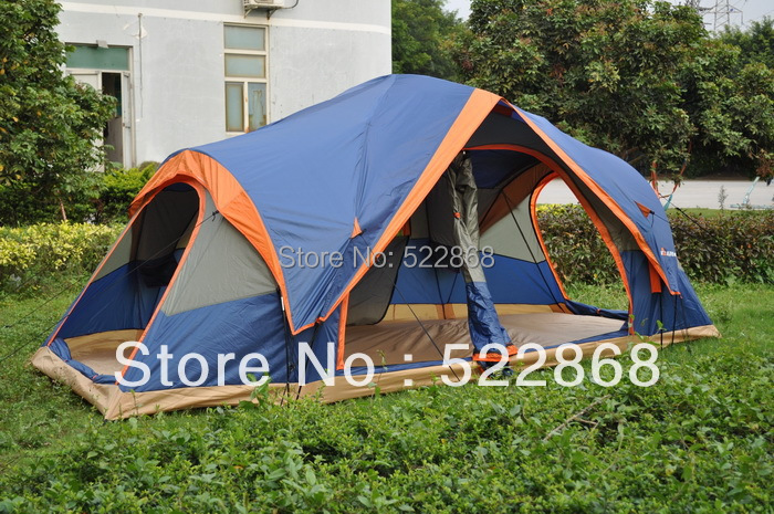 2014 new style high quality automatic two hall 6-8 person double layer camping family tent 2015 new style high quality double layer untralarge one hall one bedroom family party camping tent