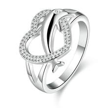 Herz der Delphine 925 Sterling Silber Ring Schmuck, 925 silber Ringe Für Frauen Schmuck schmuck Anel Anillos Aneis Bague Anelli(China)