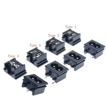 10 PCS BX-180-A01 2.5A 250 V ชายเสียบปลั๊ก IEC 320 C8 AC Power Socket Connector 23x18x13.3 มม.(China)