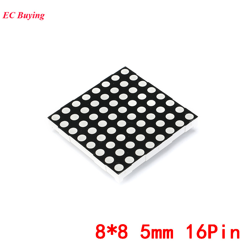 8x8 5mm Dot Matrix 8*8 16Pin Digital Tube Red Common Anode LED Display DIY Electronic Module 2088BS For Arduino