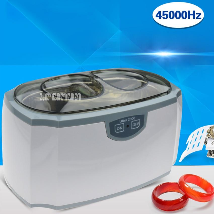 все цены на New Portable Ultrasonic Cleaning Machine D-2000 Glasses Cleaning Machine Glasses Watch Small Items Cleaners 420ml 220V-240V 35W онлайн