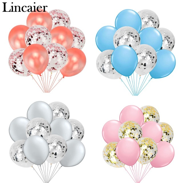 10pcs 12inch Mixed Confetti Balloons Birthday Party Decoration Kids Wedding Baby Shower DIY Bachelorette Table Supplies