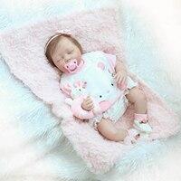53 см Reborn новорожденных девочек младенцев силиконовые корни волос Bonecas игрушки куклы Bebe Reborn лучшие детей раннего куклы раннего детства подар