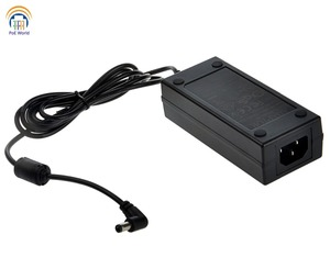 Image 2 - high quality 48V60W AC Adapter power supply max power 60W 2.1*5.5mm DC plug with power cord for PoE Patch Panel  CCTV network