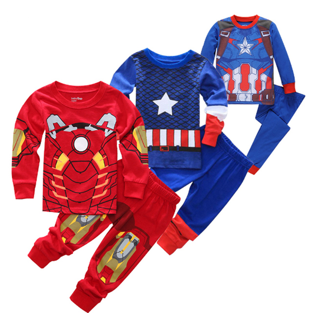 e996e6b1f Children Transformers Pyjamas Clothing Set Baby Girls Boy 100% Cotton  Sleepwear T-shirt Pants 2pcs Kids Hello Kitty Pajamas Suit