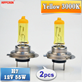 Hippcron H7 галогенная лампа, 12 в 55 вт желтый 3000K кварцевый стеклянный автомобильный светильник, автомобильная лампа, автомобильный светильник (2 ...