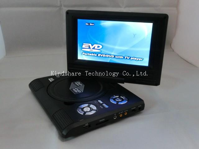 бесплатная доставка 7.8 дюймов портативный главная DVD-диск-плеер с ФМ радио аналоговые тв игры mp3 и mp4 плюс 1 год гарантии