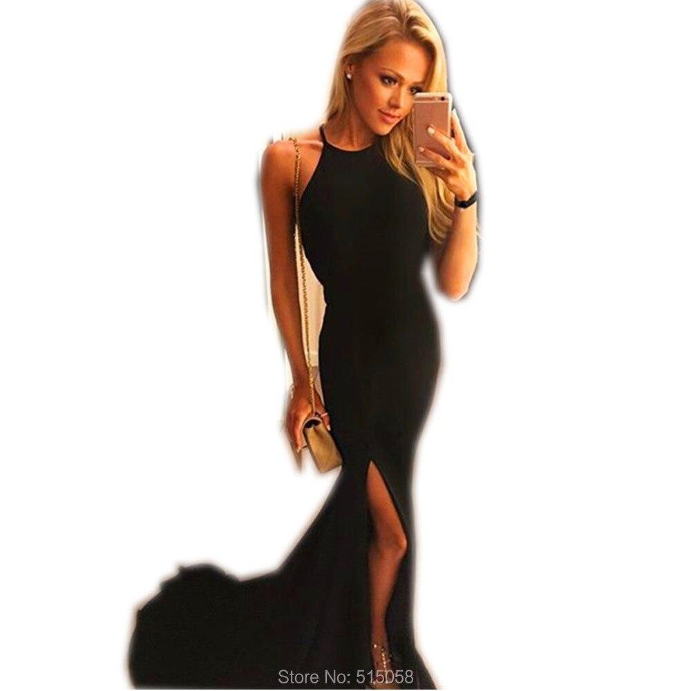 Black Halter Top Cocktail Dresses