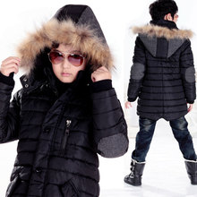Зима детская одежда большой мальчик мужская одежда подростка 10 — 11 — 12 — 13 — 15 мужской верхней одежды ватные куртки