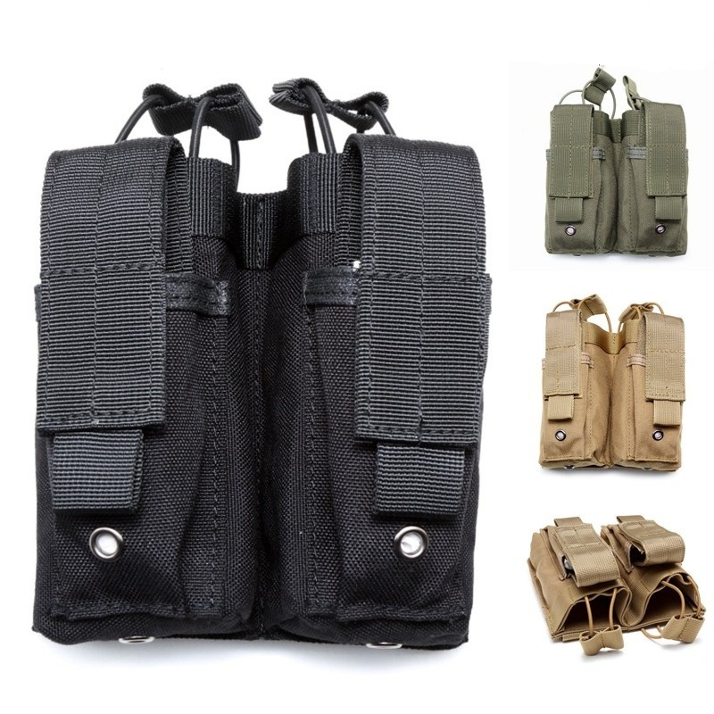 CQC Molle System AR15 Pistol Double m4 Magazine Pouch Military Accessories Airsoft Hunting Tactical Pouch Molle Clip ...