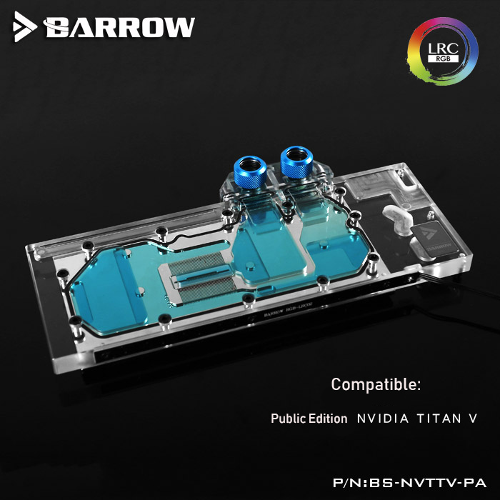 Barrow BS-NVTTV-PA LRC RGB 1.0/2.0 Full Cover Graphics Card Water Cooling gpu cooler Block for Founder edition NVIDIA Titan V настольная игра hobby world свинтус зомби 1499