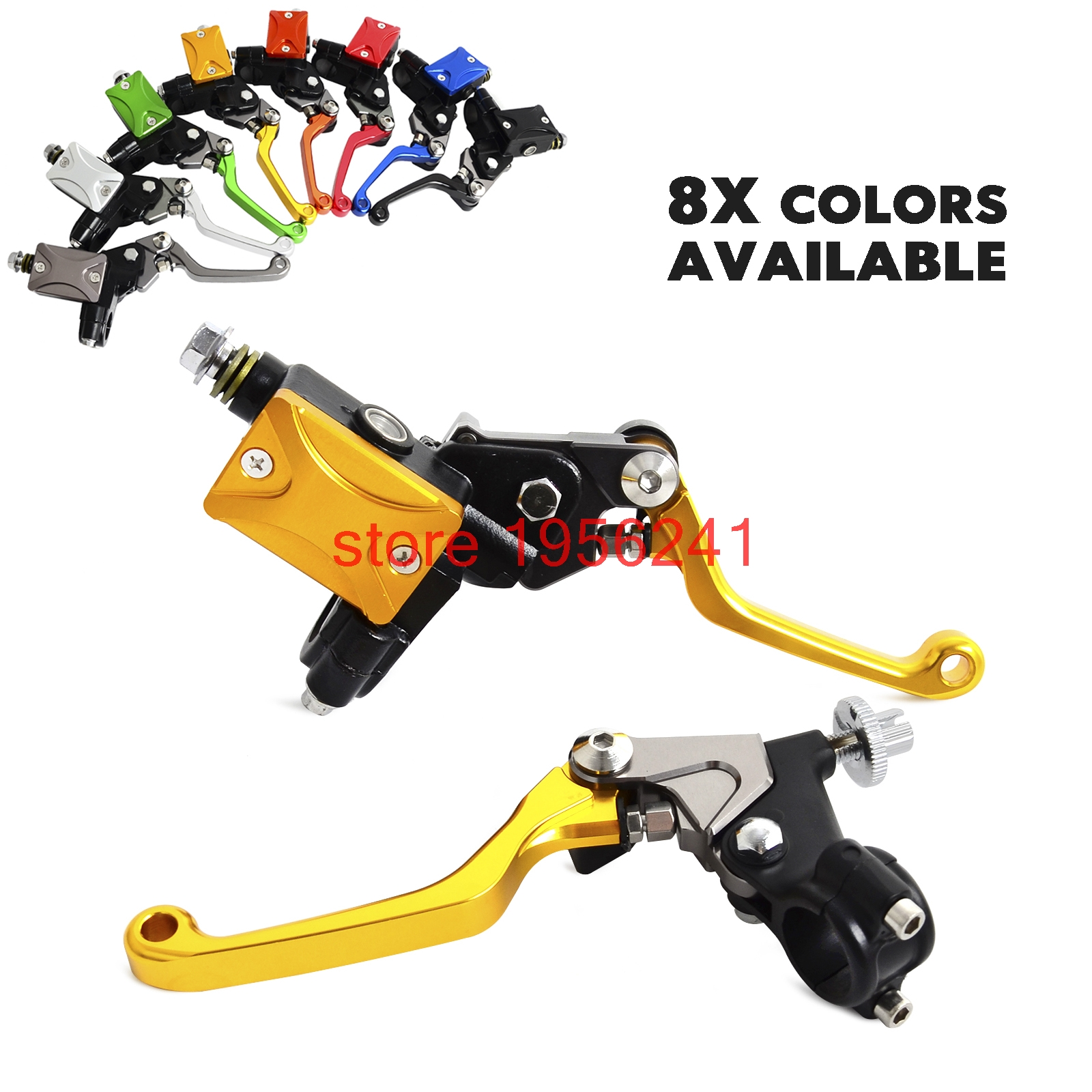 H2CNC Hydraulic Brake Cable Clutch Lever Set Assembly For Yamaha YZ80 YZ85 YZ125 YZ250 YZ250F YZ426F