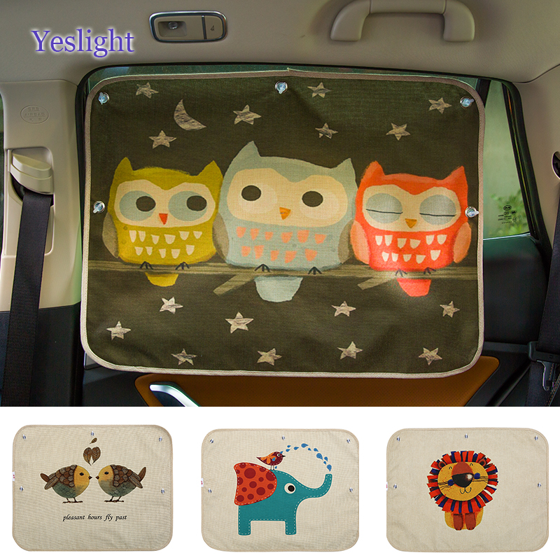 1pc universal Car Side window sunshade curtain Summer Adjustable sunscreen Baby sun shade solar UV protection foils