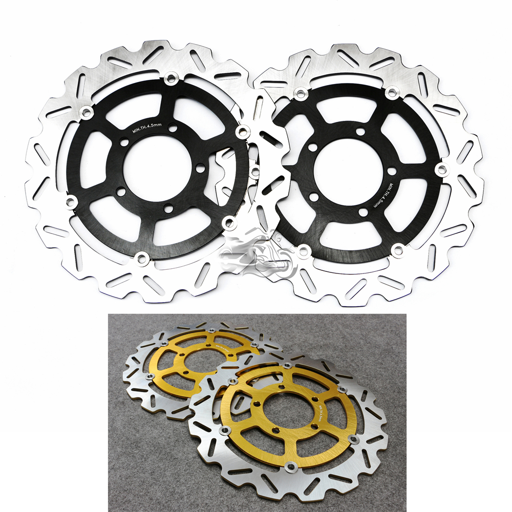 Floating Front Brake Disc Rotor For Motorcycle Kawasaki Ninja ZX14R 06-14 & ZZR1400 06-11 & ZG1400 08-12 & GTR1400 07-14 keoghs real adelin 260mm floating brake disc high quality for yamaha scooter cygnus modify