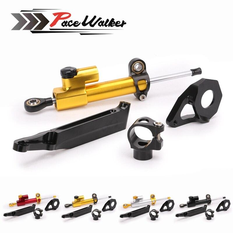 Free shipping Motorcycle CNC aluminum Steering Stabilize Damper Bracket Mount Kit For Honda CBR600RR CBR 600RR