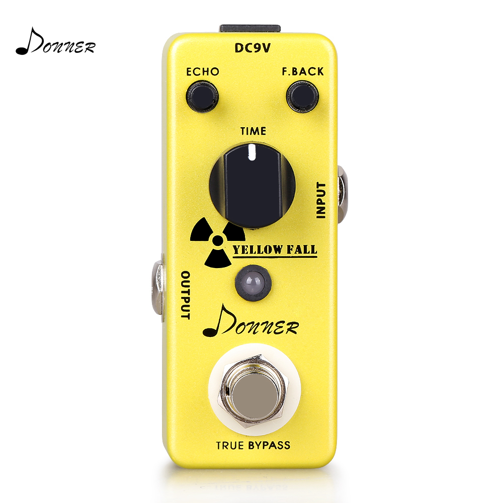 Donner Delay Pedal Electric Guitar Effect Pedal Analogy Circuit Delay True Bypass Yellow Fall Mini Pedal Guitar Accessories